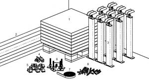 Монтаж фальшпола. Иллюстрация 1
